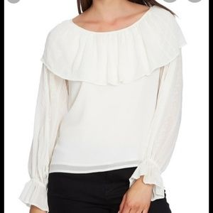 1.State Embroidered Overlay Blouse